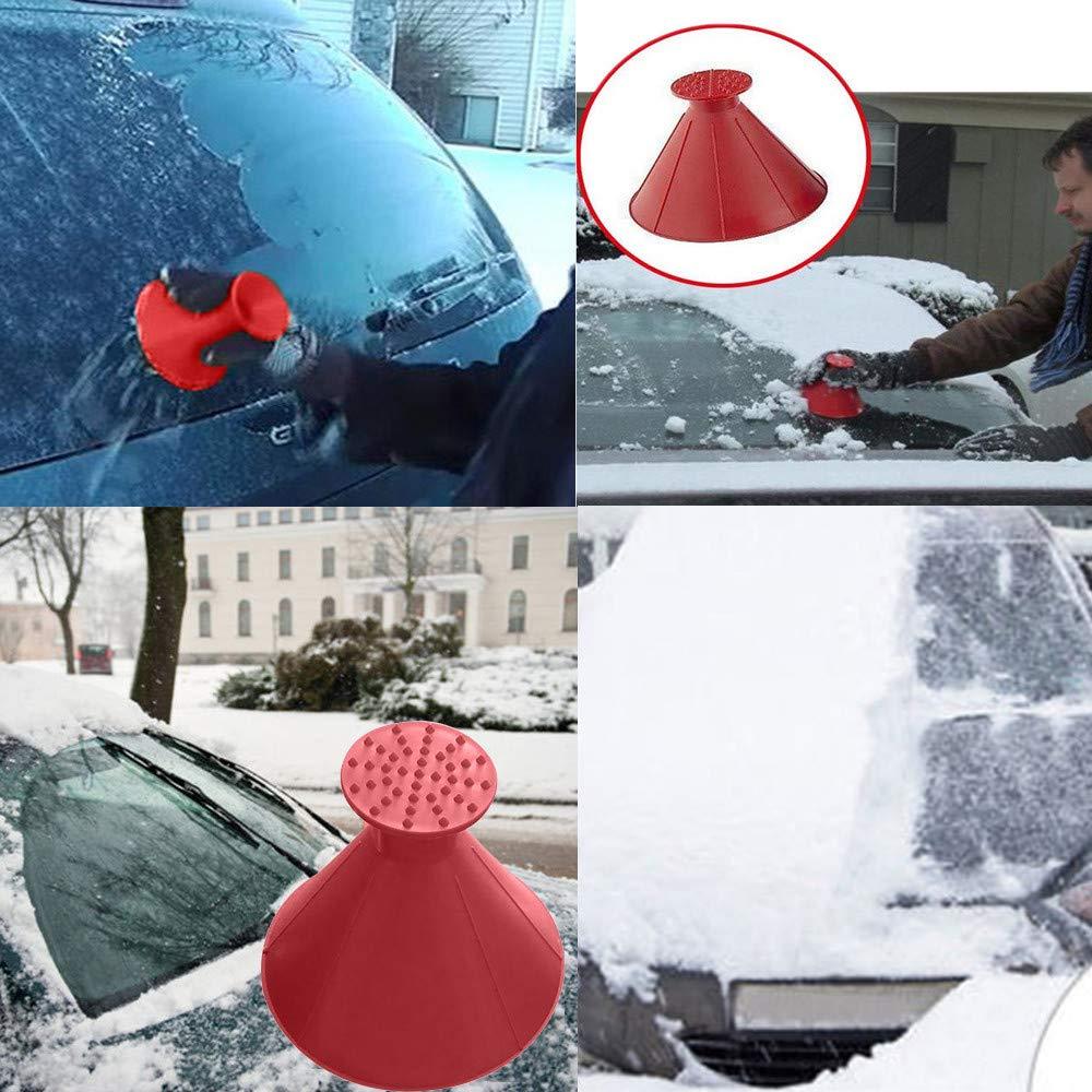 Rot + Gr/ün 99native Cone-Shaped Auto Windschutzscheibe Schneer/äumung Fensterreinigungs Werkzeug,Snowboard-Defroster Motorrad Mit Schneepinsel