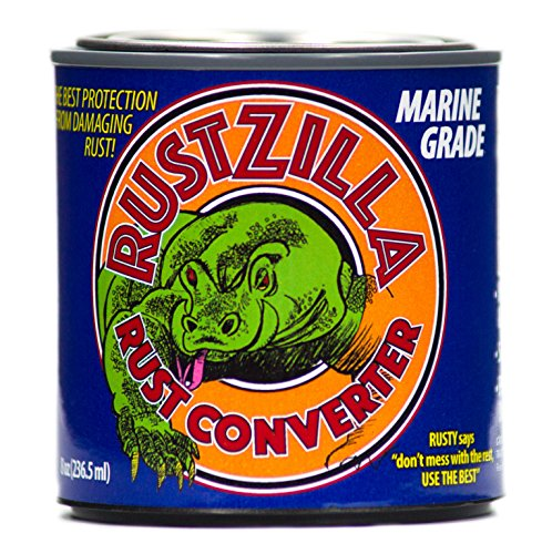 RUSTZILLA RZMG-004271 Marine Grade Rust Converter and Remover, Professional Strength for All Metals Including Stainless Steel, Steel, Cast-Iron, 8 oz.