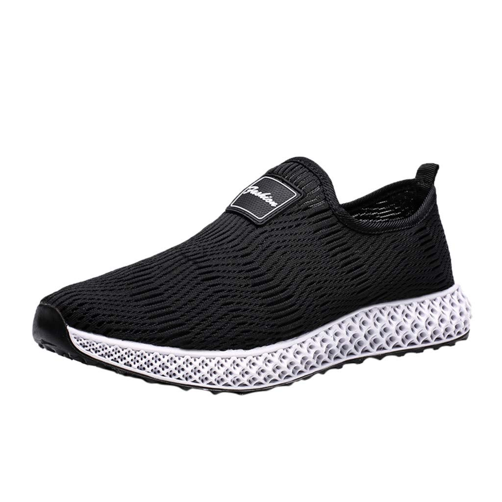 BIKETAFUWY Running Shoes for Mens Sports Fly Woven Sneakers Outdoor Walking Fitness Athletic Road Breathable Footwear