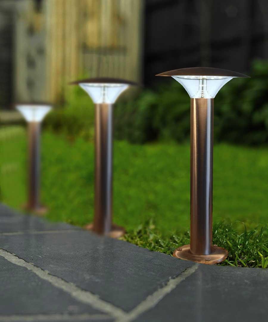 5w Modern LED Bollard Garden Lamp Post Stainless Steel Outdoor Cool White  Light: Amazon.co.uk: Lighting