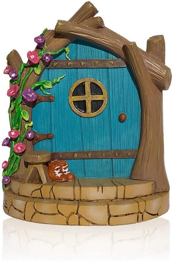 Fairy Door Fairy Garden Accessories, Fairy Garden Kit Door For Fairy House And Other Fairy Garden Miniatures, Garden Decor For Fairies And Garden Gnome Decor