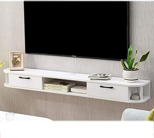 YANGFH Mueble de Estante for TV montado en la Pared Estante de Juegos de Consola de Entretenimiento Multimedia con Muebles de cajones estantes flotantes (Color : B): Amazon.es: Hogar