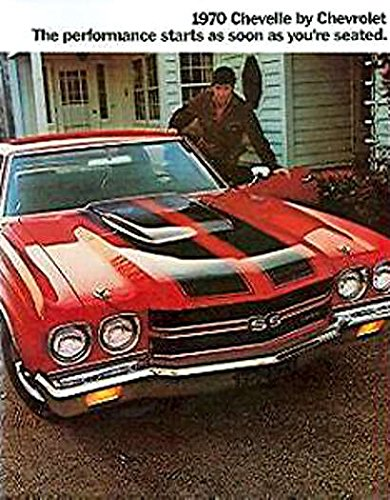 BEAUTIFUL 1970 CHEVY CHEVELLE DEALERSHIP SALES BROCHURE - Covers Chevelle SS 396 model, Super Sport, Concours, Malibu SS. ()