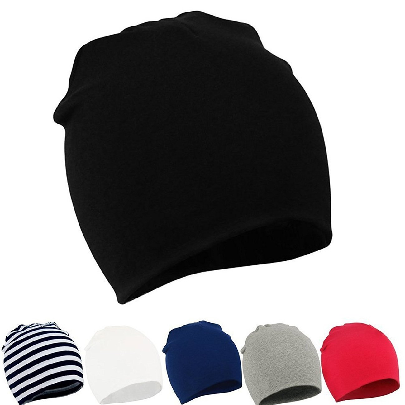 Zando Baby Toddler Infant Kids Cotton Soft Cute Lovely Knitted Beanies Hat Cap B 6 Pack-Mix Color2 Small (0-12 months)