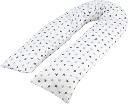 9 Foot Maternity Pillow And Case Grey