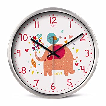G. Medalis Reloj de pared silencioso Reloj de Cuarzo de Pared silencioso, Decorativo para el ...