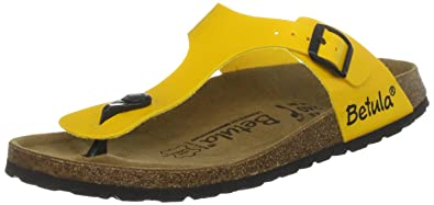 7dc931541be71 Birkenstock Betula Women s Rose Birko Yellow Patent Slides Sandal 3453 4  UK