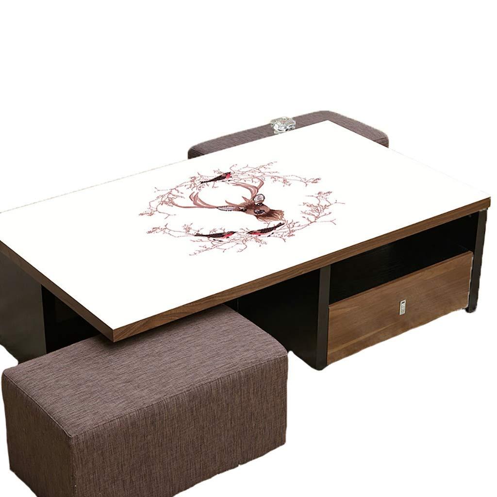 テーブルクロスソフトガラス100x100cm防水アンチホットアンチオイル簡単クリーンテーブルプロテクターコーヒーティーテーブルマットプラスチックテーブルクロス   B07S1LSZSZ