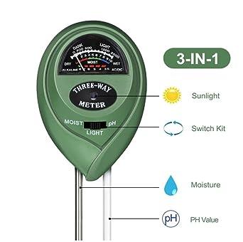 Boden PH Messgerät Bodenfeuchte soil meter Feuchtemessgerät Tester 2005
