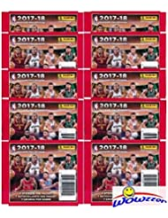 2017/18 Panini NBA Basketball Sticker Collection of 10 Factory Sealed Packs with 70 Brand New MINT Glossy Stickers! Look for Stickers of Top NBA Superstars including Lebron, Durant, Curry & Many More!