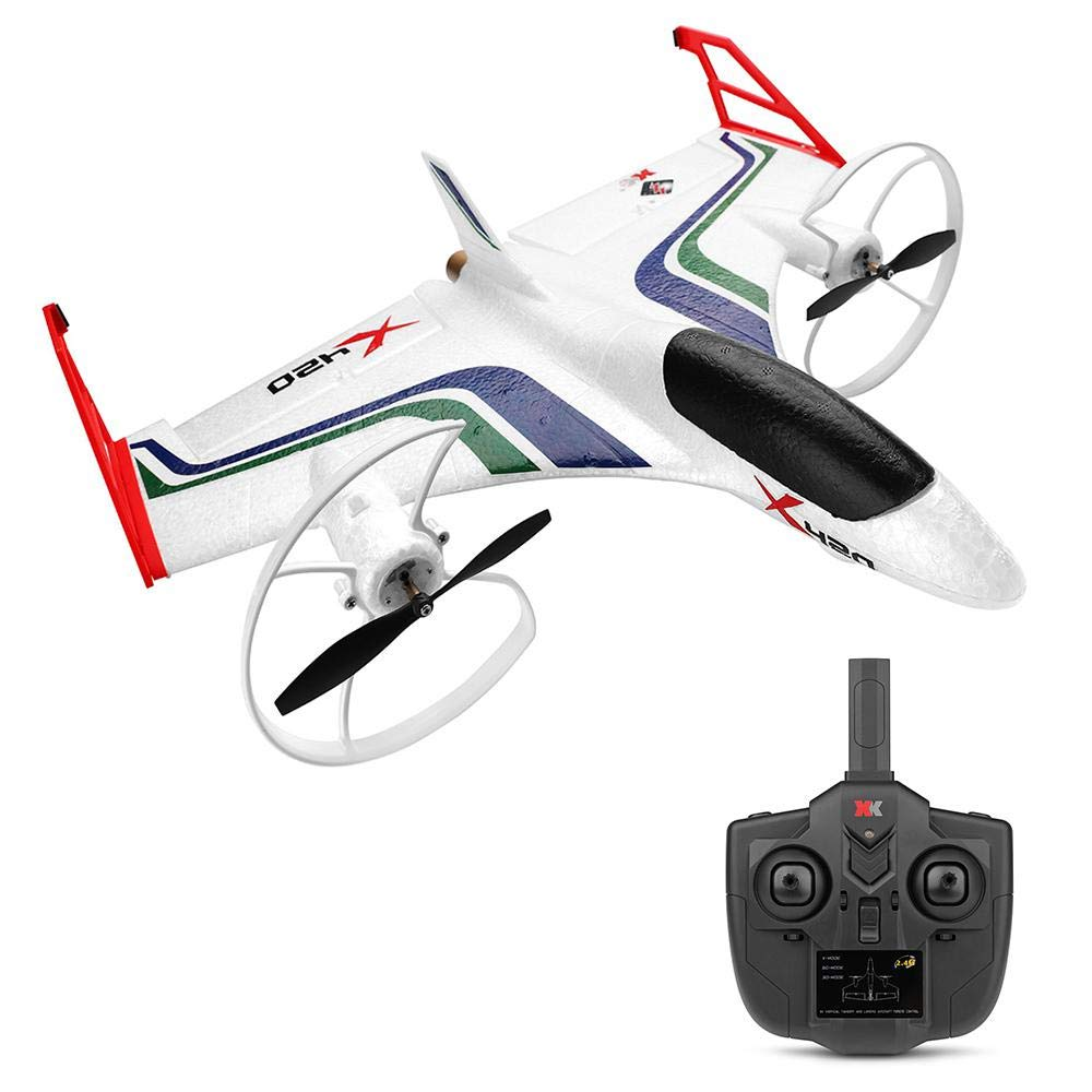 Xk Rc Drone Remote Control Aircraft 3D Aerobatic Rc Airplane Glider Can Expand 720P Image Transmission with Gyro Six-Channel Vertical Takeoff Landing Fixed-Wing Airship for Kids & Adult Aircraft Toy by Tawcal