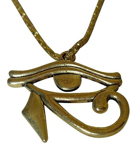 Amazoncom Egyptian Horus Falcon Eye Sun Sky God Egypt Necklace