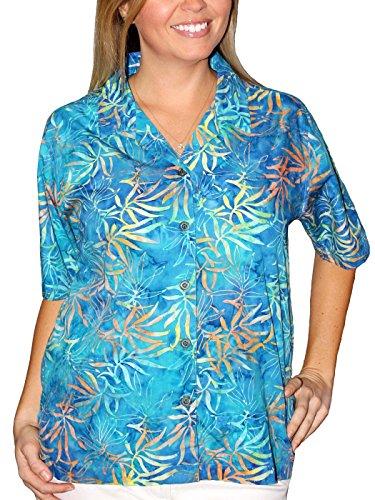 Artisan Outfitters Women's Oasis Batik Cotton Hawaiian Shirt for cheap