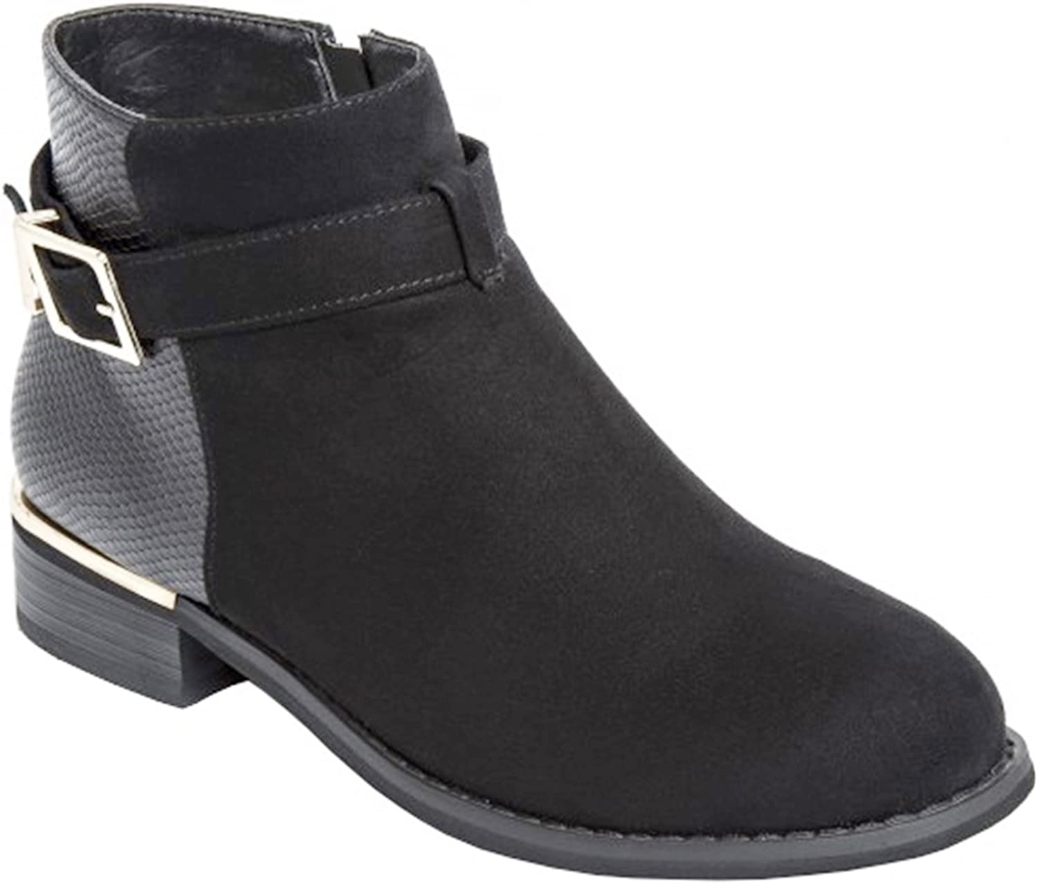 Ladies Ankle Boots with Buckle