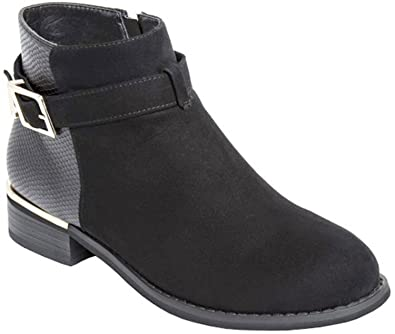 9f17051c9a4 Ladies Ankle Boots with Buckle Decoration (8