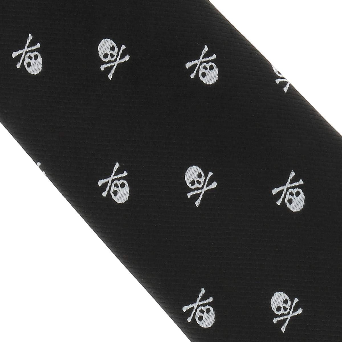 Corbata y Pajarita Calavera Negra y Blanca Corbata y Pajarita Esqueleto Skull Corbata y Pajarita Hombre Cr/áneo Original