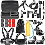 Neewer 21-in-1 Action Camera Accessory Kit for GoPro Hero 4/5 Session, Hero 1/2/3/3+/4/5/, SJ4000/5000, Xiaomi Yi, Nikon and Sony Sports DV in Swimming Rowing Climbing Bike Riding Camping and More