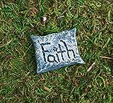 Miniature Fairy Garden Pillow with Fairy Saying, Faith