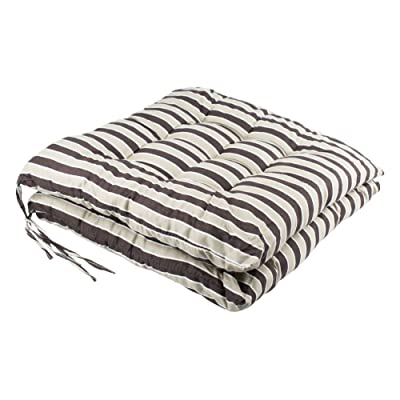 YOUTA Seat Patio Cushion Reversible Set of 2 Chair Cushions Furniture Garden Square Chair Pads for Home Office Outdoor Indoor 15x15 inch Coffee Stripe: Home & Kitchen