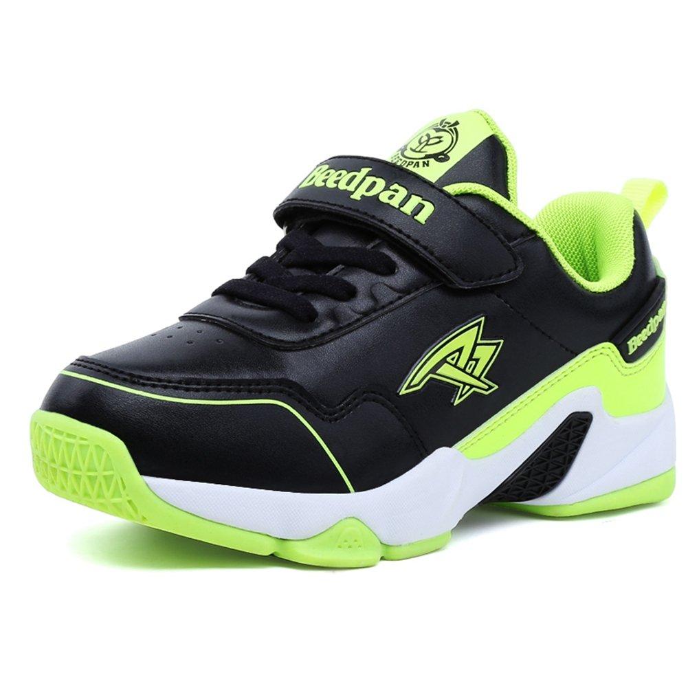 U-MAC Boys Girls Damping Tennis Sneakers Breathable Velcro Anti-slip Running Shoes (Little Kid/Big Kid) by U-MAC