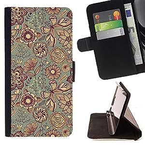 Jordan Colourful Shop - fabric texture Indian floral art For Apple Iphone 6 PLUS 5.5 - Leather Case Absorci???¡¯???€????€???????&bdqu