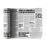 Cotton Printed Luncheon Napkin - 8.0 x 8.0 in - 12 units per roll - Newspaper