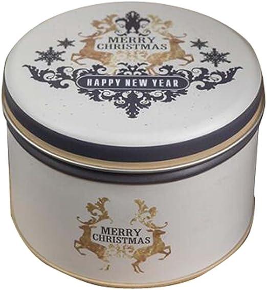 Black Temptation Paquete de Caja Redonda de Hierro Caja de Caramelos/ Galletas de Boda Caja de Regalo Latas de té Storage-C2: Amazon.es: Hogar