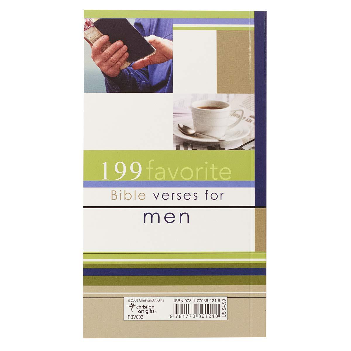 199 Favorite Bible Verses for Men: Christian Art Gifts: 9781770361218:  Amazon.com: Books