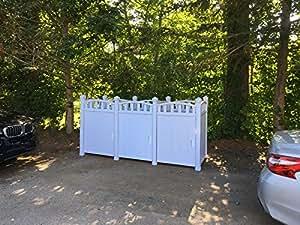 Outdoor Garbage Carts Storage - Garbage Storage Shed -Triple Unit
