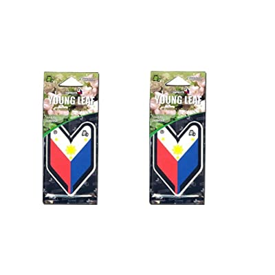 Tree Frog Young Leaf Hanging Air Freshener x 2 (Philippines Flag): Automotive [5Bkhe2011654]