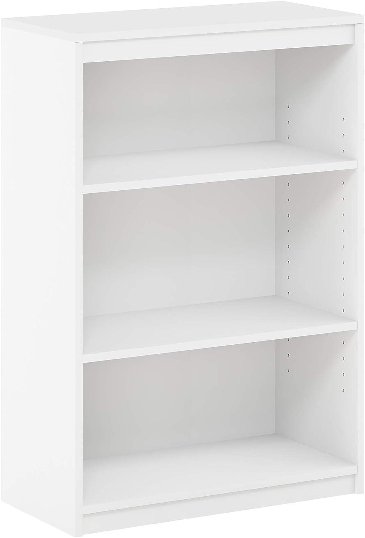 FURINNO Gruen 3-Tier Bookcases, White