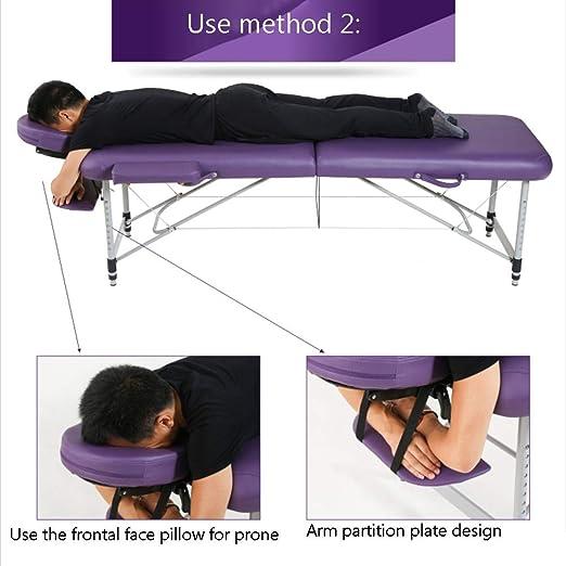 Amazon.com: LJHA Cama de masaje plegable, cama de belleza ...