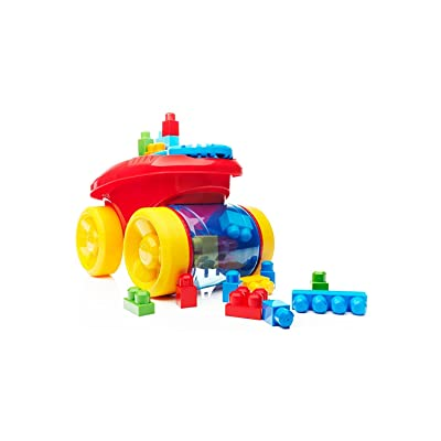 Mega Bloks Block Scooping Wagon Building Set Red: Toys & Games