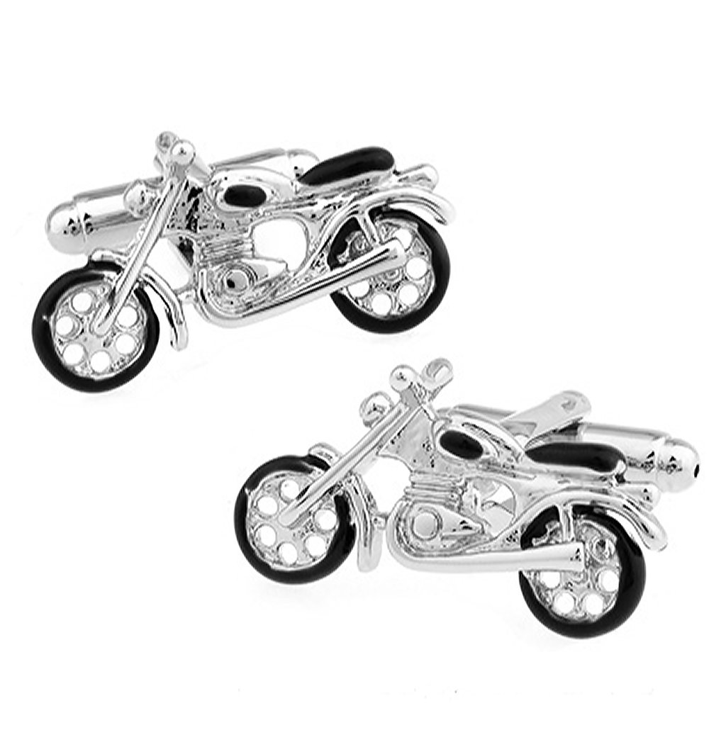 Vintage Motorbike Cufflinks for Men's Birthdays, Weddings and Special Occasions | Personalised Cufflinks for Men
