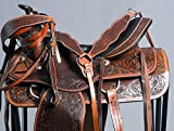 WESTERN TRAIL PLEASURE ENDURANCE SADDLE LEATHER MATCHING HORSE TACK SET
