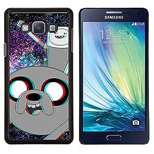 YiPhone /// Prima de resorte delgada de la cubierta del caso de Shell Armor - Divertido Advanture dibujos animados del espacio - Samsung Galaxy A7 A7000