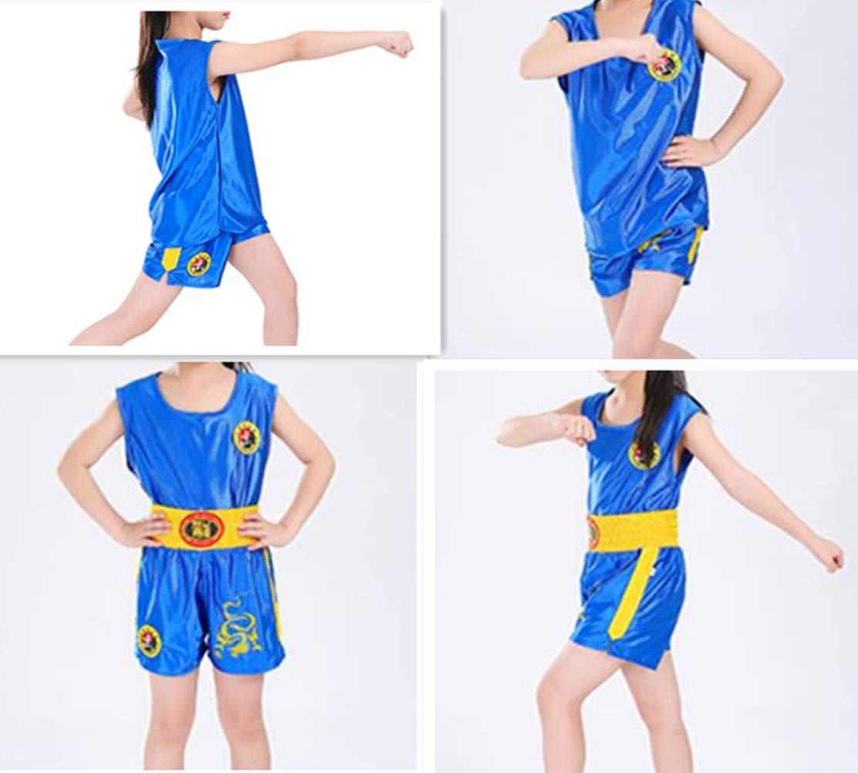 Qduoduo Unisex Adulto Bambini Abbigliamento per Arti Marziali Sanda Abbigliamento Completo Muay Thai Combattimento Combattimento Abbigliamento da Allenamento Fitness Sport Camicia Canottiera