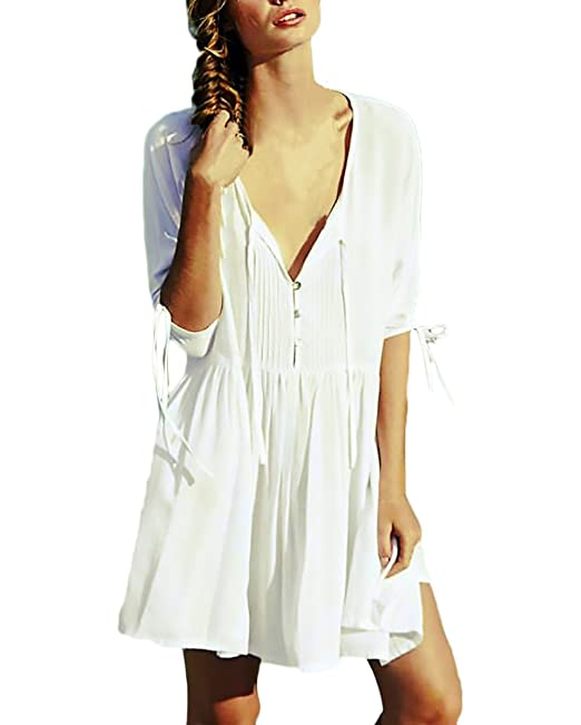 Pareos Playa Mujer Verano Vestidos Casual Fashion Loose ...