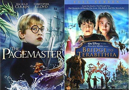 Bridge to Terabithia & Pagemaster DVD Set Classic Family Fantasy Movie Bundle Double Feature