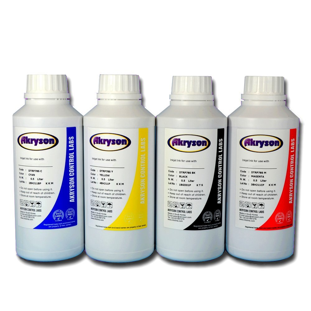 Tinta de Sublimación Pack 4 Botellas 500ml para impresoras Epson ...