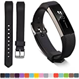 iFeeker Soft Silicone Adjustable Replacement Wristband Strap Sport Watch Band Bracelet for Fitbit Alta HR and Fitbit Alta Activity Fitness Tracker