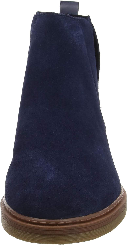 Clarks Dove Madeline, Botas Chelsea para Mujer Azul Marino Ante yO2Il