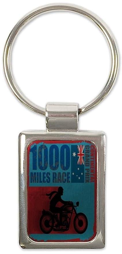 Llavero Retro Motorista carrera de 1000 millas impreso ...