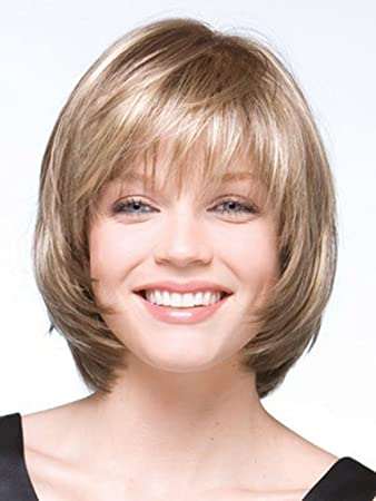 2015 Bob Short Straight Blonde Wig for Women Peluca Peruca Sexy Synthetic Hair Wigs Full Wig