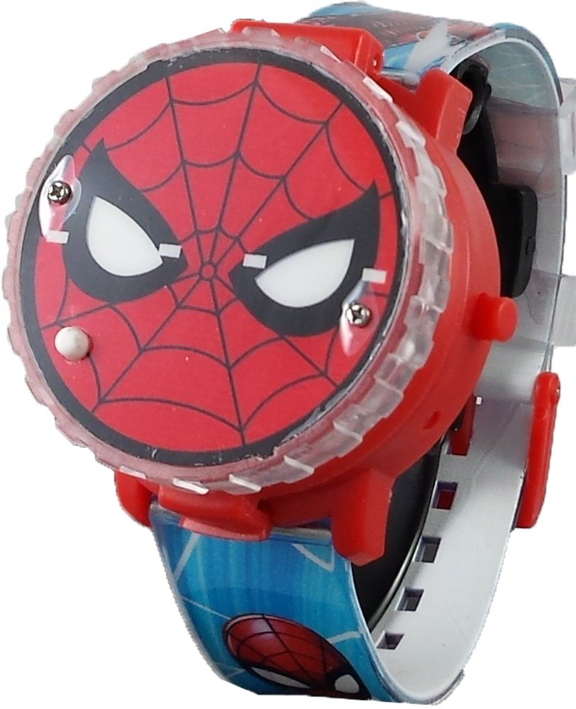 Spiderman Kid's Light up Spinner Digital Watch with Pop up Feature by Marvel