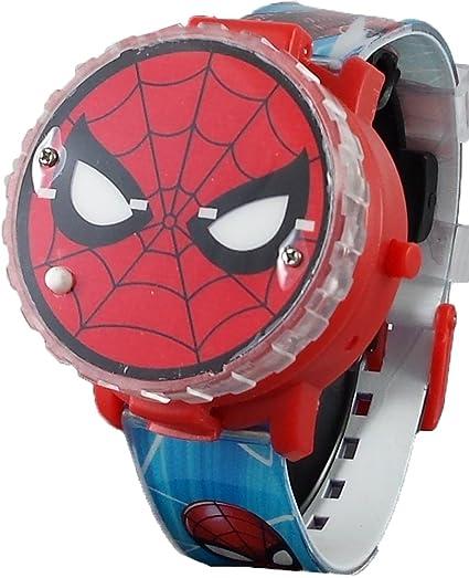 Spiderman - Reloj Digital con función desplegable para niños: Amazon.es: Relojes