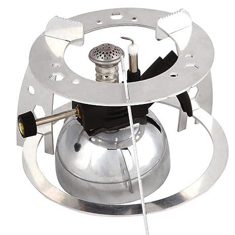 Njord profesional spray barbacoa quemador de butano Camping estufa horno calefacción Picnic cafetera tetera Pot + ...