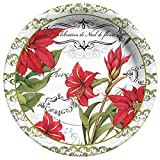 C.R. Gibson 8 Count Botanical Christmas Paper Dinner Plates