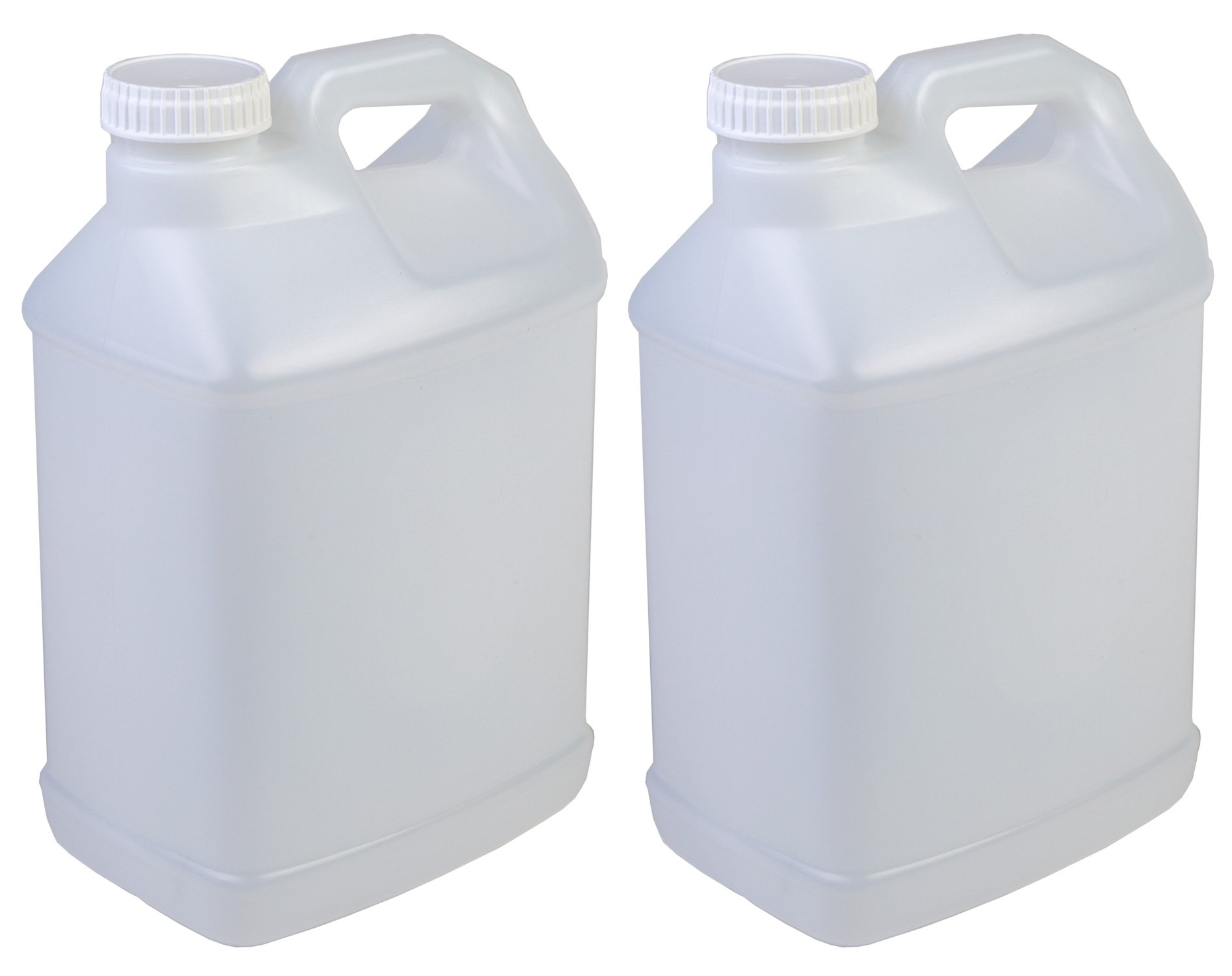 Hudson Exchange 2.5 Gallon Hedpak Container with Cap, HDPE, Natural, 2 Pack