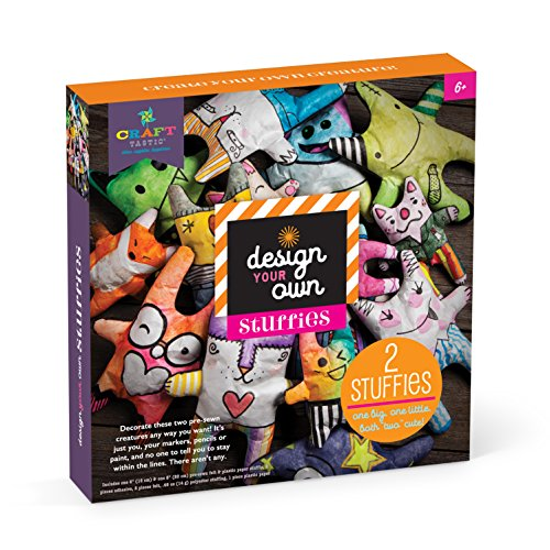 Craft-tastic Design-Your-Own Stuffies Decorate and Stuff 2 Pre-Sewn Creatures